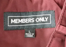 Load image into Gallery viewer, Member Only Men's Insulated Jacket, Size Large, burgundy, polyester