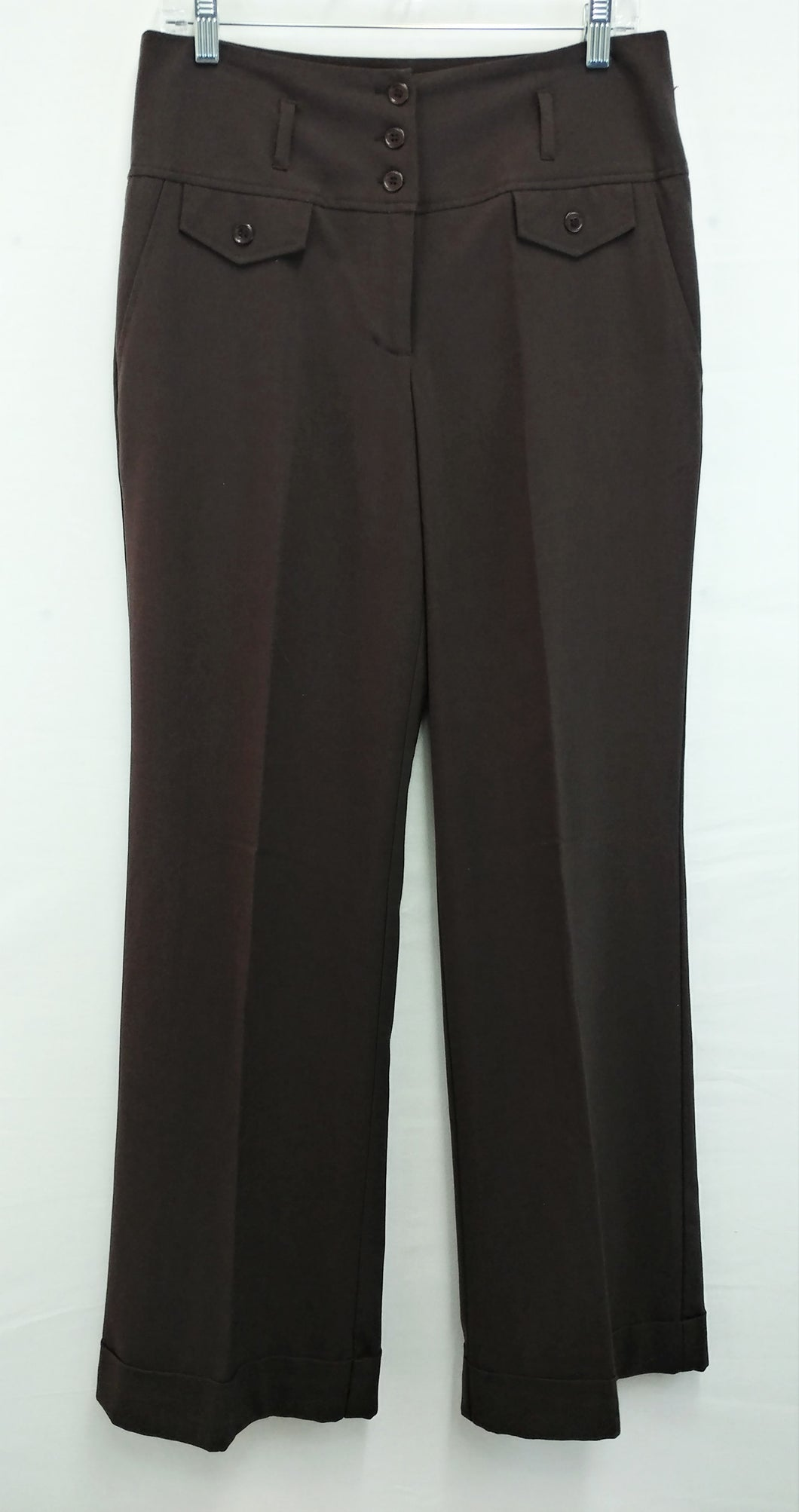 Uniform John Paul Richard Women Pants, Size 8, brown, polyester blend