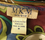 M.K.M Designs Women Shirt, Size Medium, multi-color, polyester