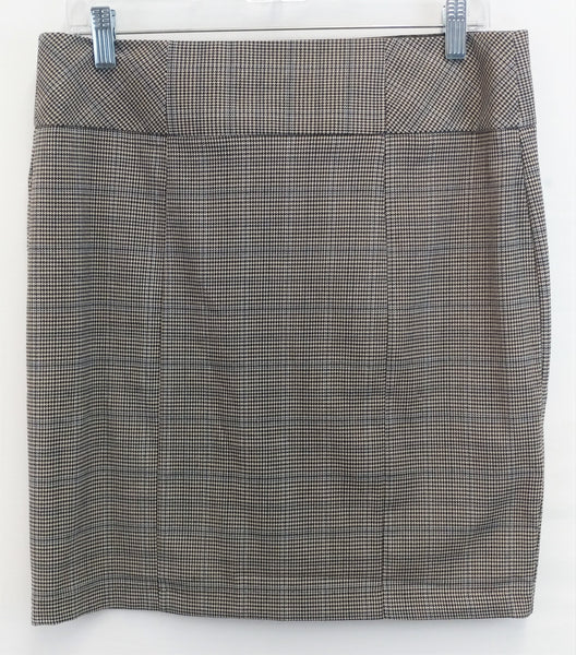 Maurices Women Skirt, Size 7/8, brown, polyester, rayon, spandex