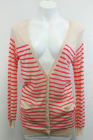 New Olive and Oak Women Cardigan, Medium, beige, pink, rayon, nylon