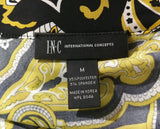 I.N.C. International Concepts Women Shirt, Size Medium, gold, black