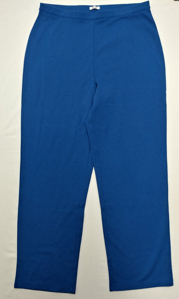 Draper's & Damon's Women Pants, Size Large, blue, polyester, cotton, spandex