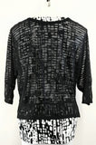 Kim Roger's Women Shirt, Size Medium, black, white, polyester