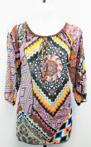 Urban Mangoz Women Shirt, Size Meduim, multi-color, polyester