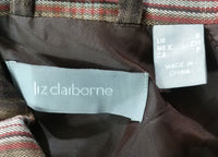 Liz Claiborne Women Blazer, Size Small, brown, pink, cotton, spandex