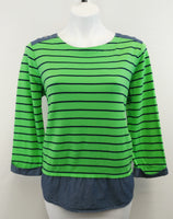 Kim Rogers Women Shirt, Size Medium, blue, green, cotton