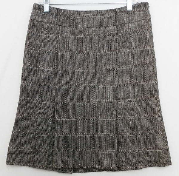 Kenneth Cole New York Women Skirt, Size 8, black, gray, wool, viscose