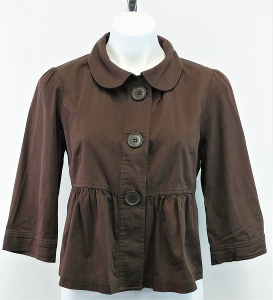 Dolled Up by F.A.N.G Women Blazer, Size X-Large, brown, cotton, spandex