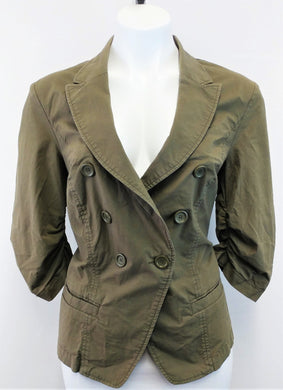 I.N.C. International Concepts Women Blazer, Size Large, green, cotton, spandex
