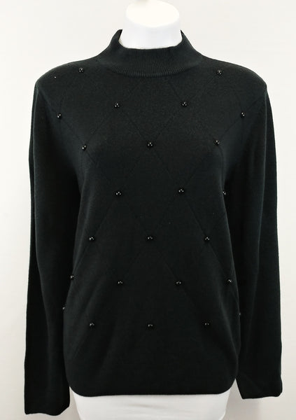 New The TOG Shop Women Sweater, Size X-Large, black, aryclic