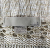 One A Women Cardigan, Size Large, beige, acrylic