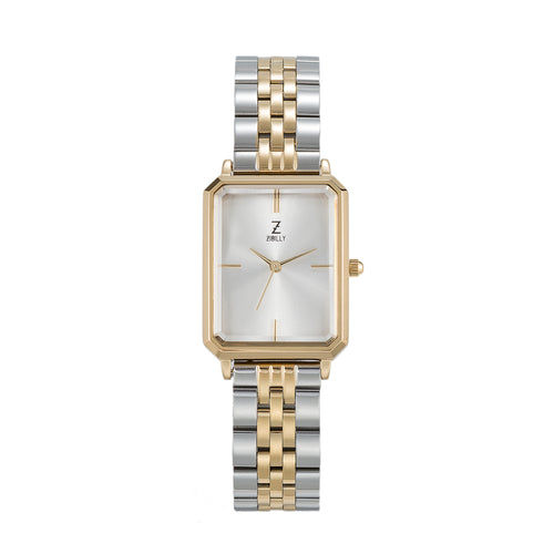 Zibilly Portrait Watch Limited Silver Gold Duo