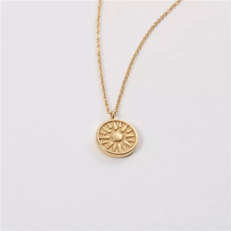 Sun Goddess Necklace 18K Gold Plated
