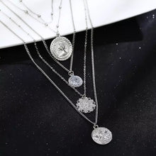 Load image into Gallery viewer, 4 Pack Pendant Coin Necklaces