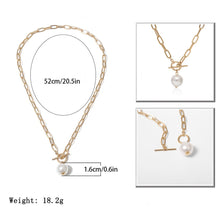 Load image into Gallery viewer, Pearl Pendant Necklace
