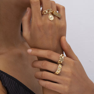Brooklyn 4 pieces ring set