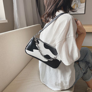 Cow Print Mini Handbag