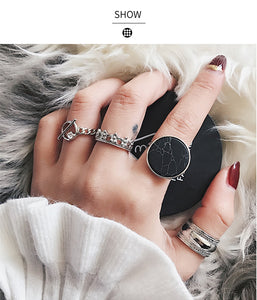 Marble Knuckle Rings