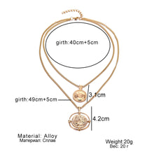 Load image into Gallery viewer, Argos Retro Coin Necklace