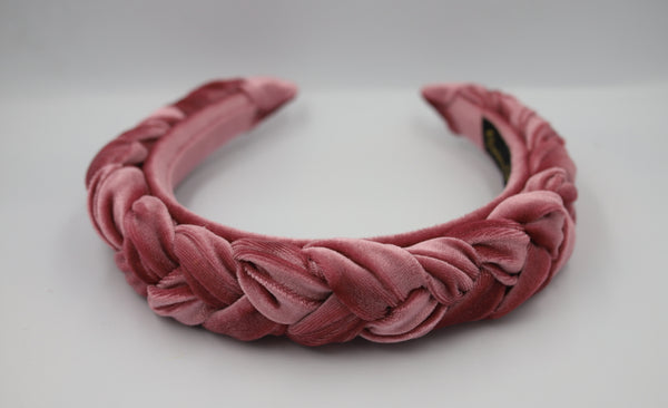 Dusky Rose Plaited Headband