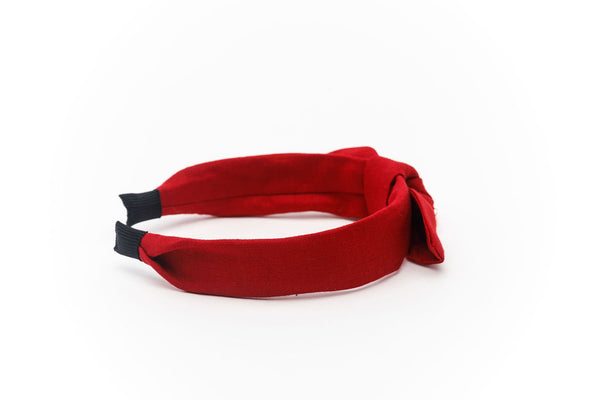 Linen Knot Headband  Wine