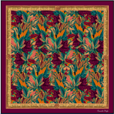 Rustic Leaves in Aubergine