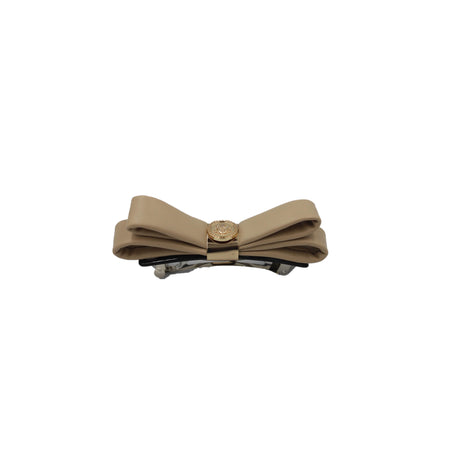 Leather Bow Headband Gold