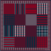 Its all about Checks 90 x90 silk scarf