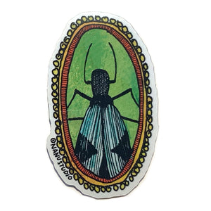 Green Bug Sticker