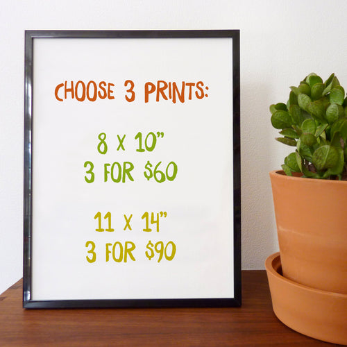 Choose 3 Prints