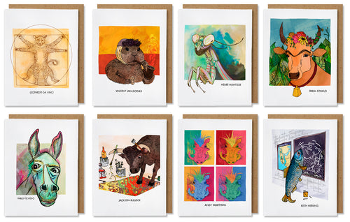 Famous Animals Cards, Box Set - Artist Edition