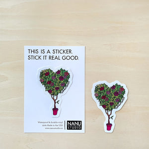 Heart Topiary Sticker