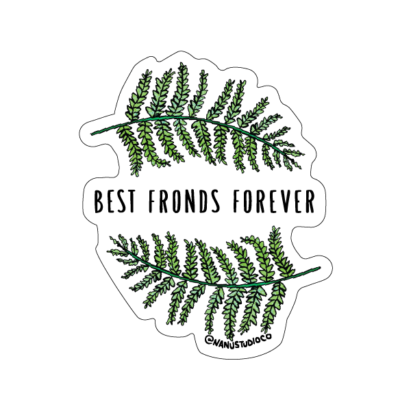 Best Fronds Forever Sticker