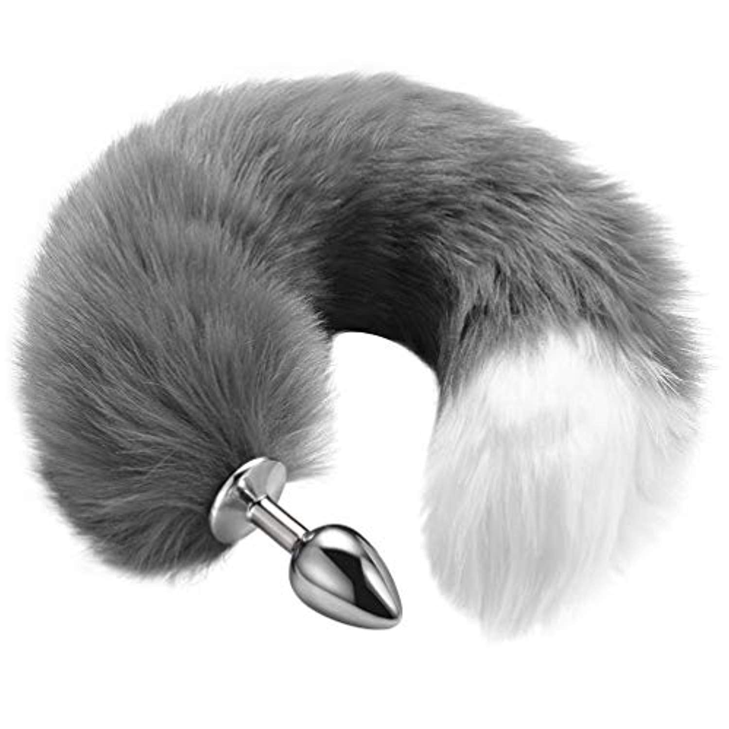 "Butt Plug Fox Tail Anal Plug (15.7"", Stainless Steel)"