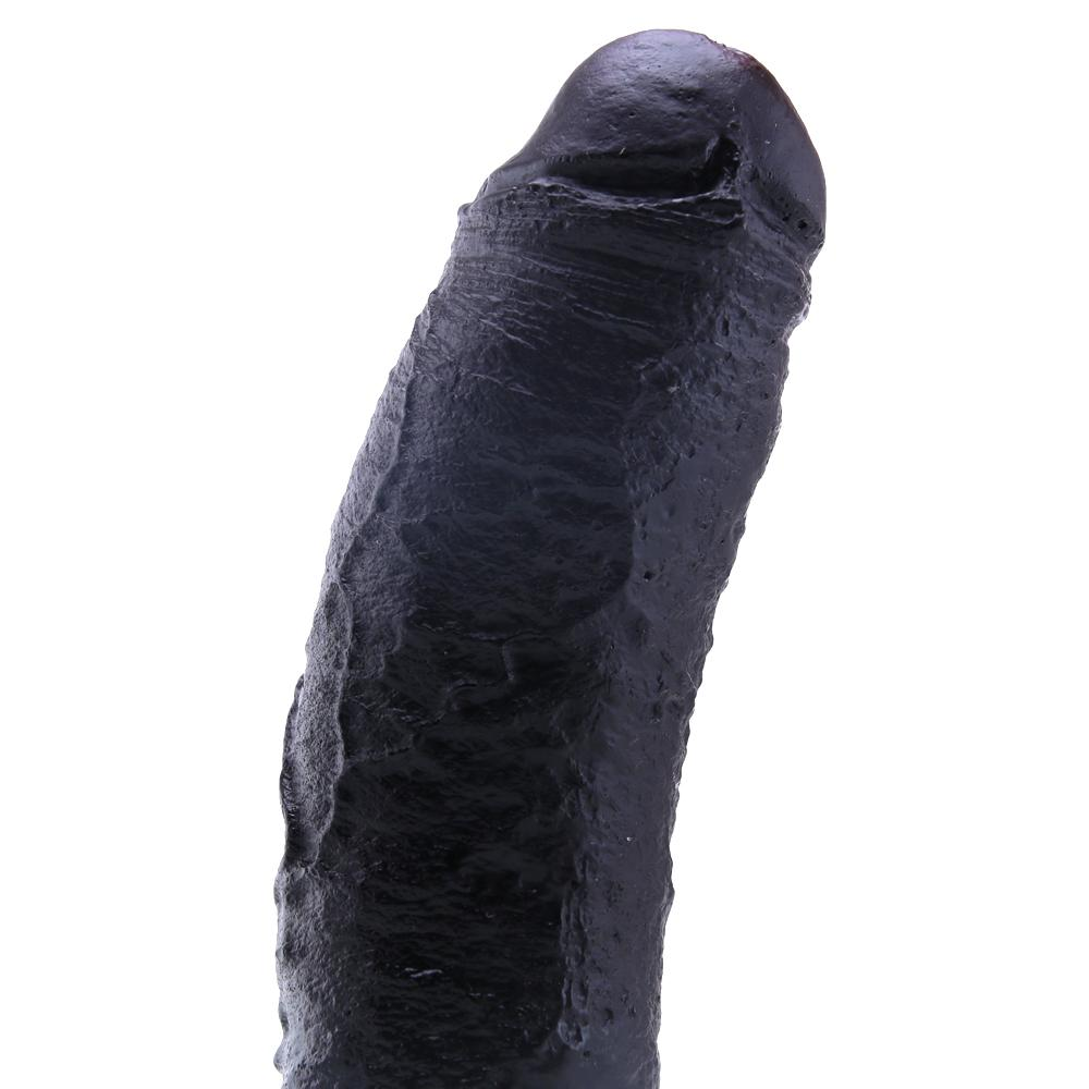 Basix 10 Inch Fat Boy Dildo in Black