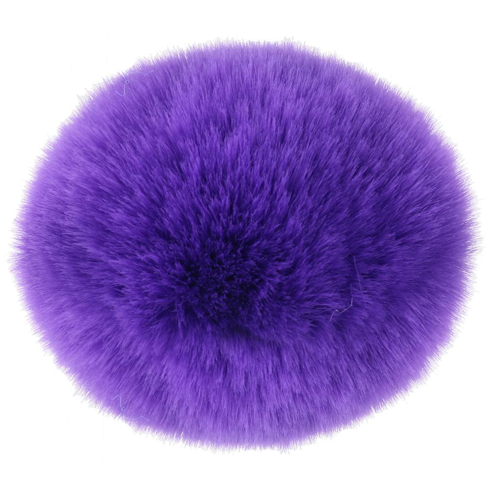 Bunny Tail Beginner Silicone Butt Plug in Purple