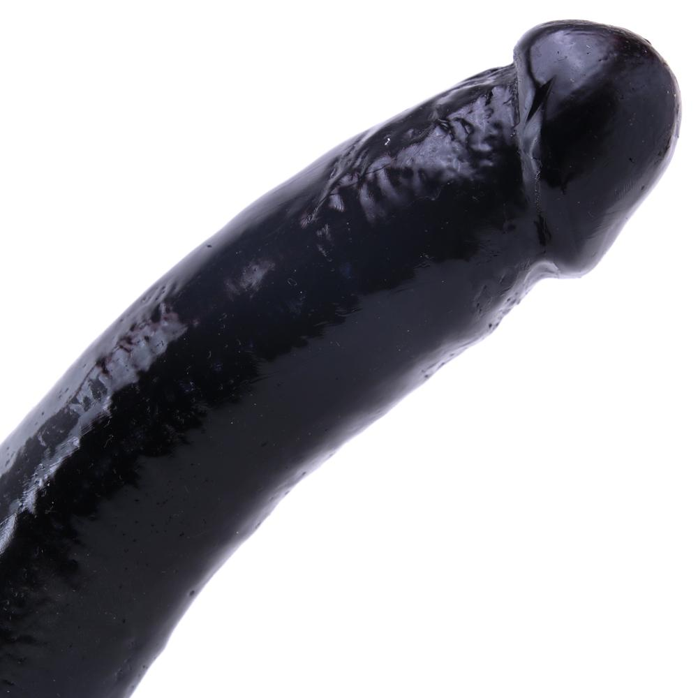 Basix 9 Inch Suction Cup Dildo in Black