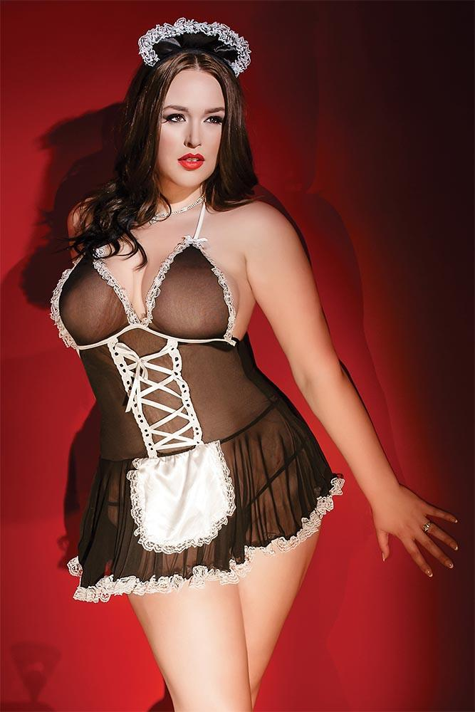 French Maid Babydoll & Headpiece Sexy Lingerie Sets