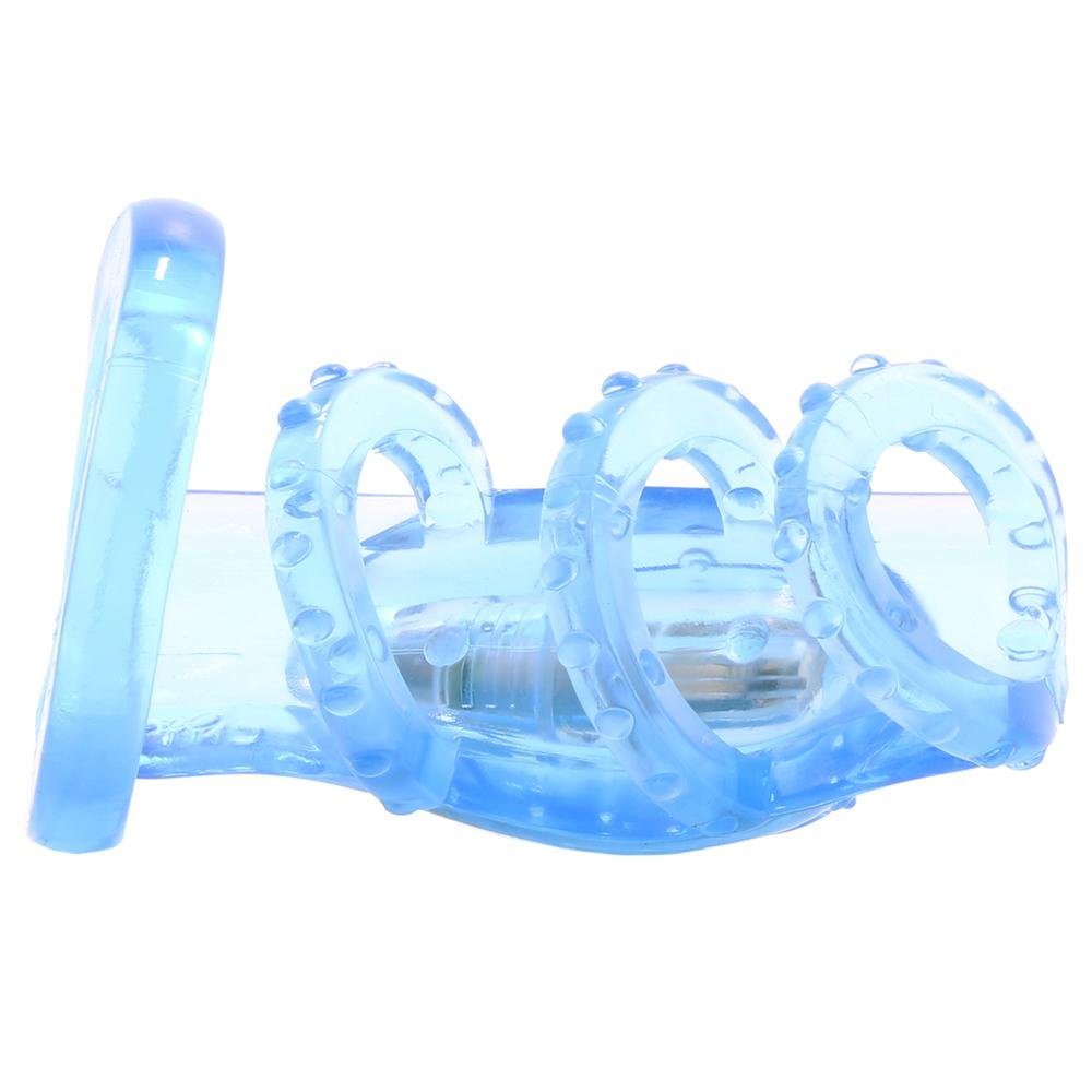 Dr. Love's Zinger Vibrating Cock Cage in Blue