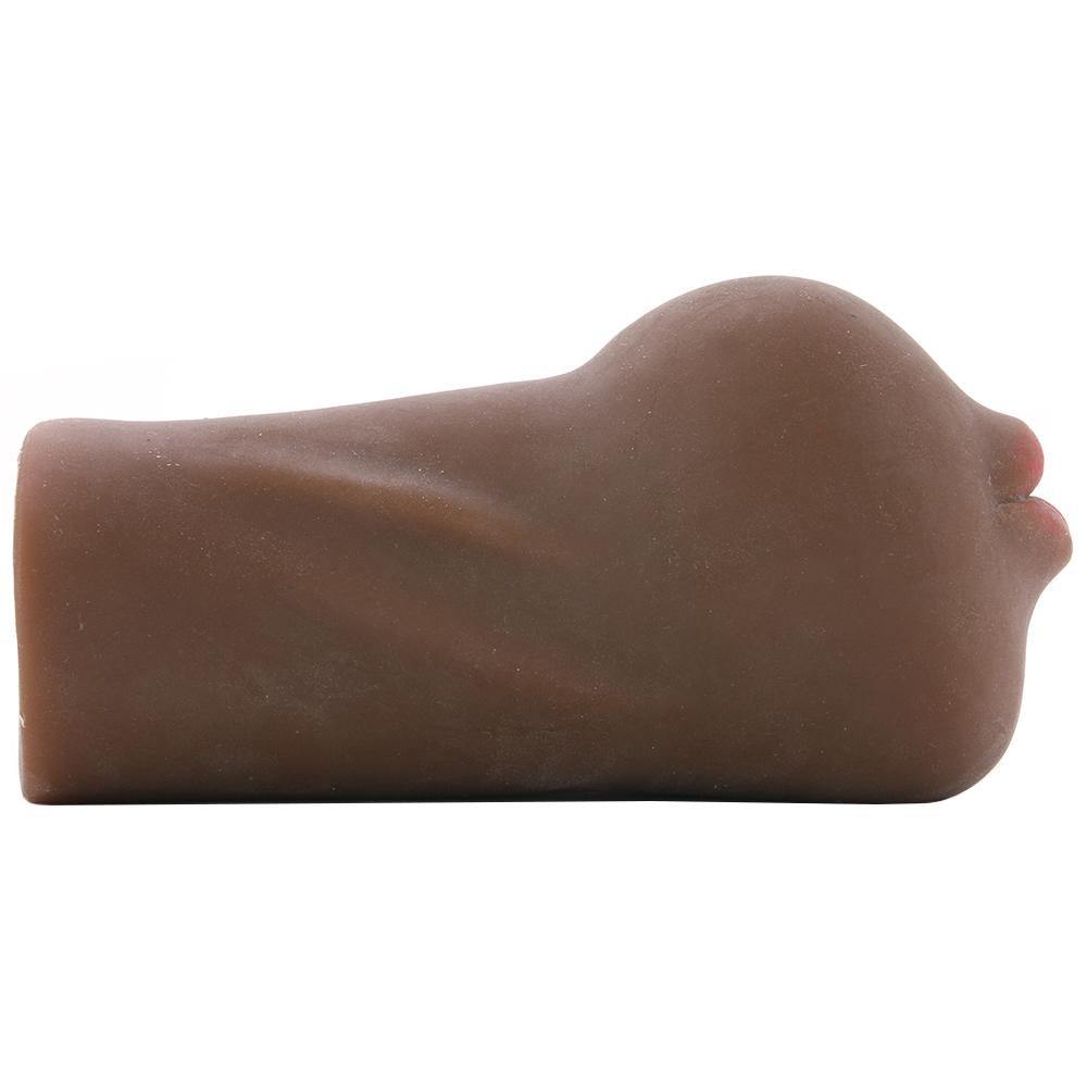 Stroke It Anatomical Mouth Stroker in Brown