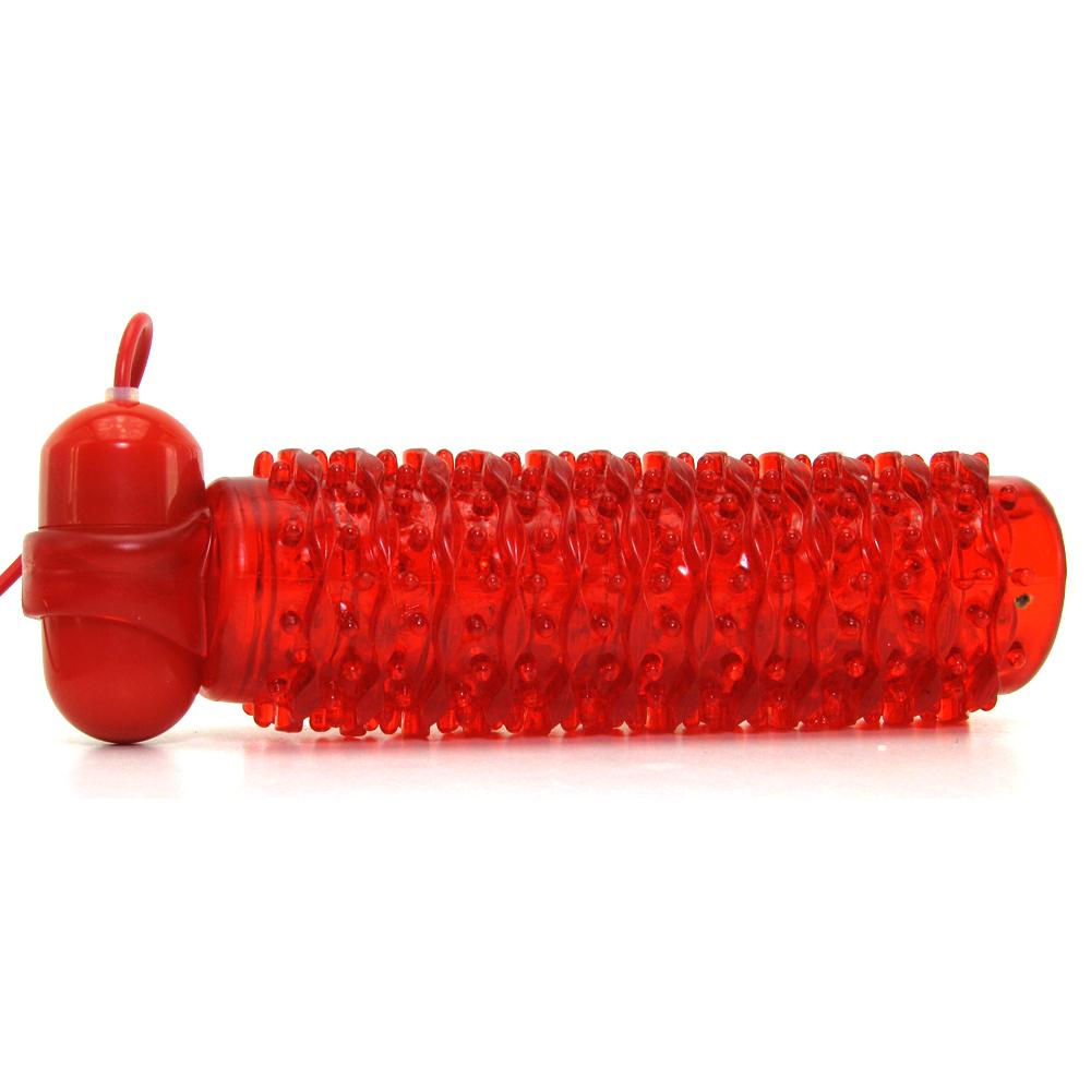 10 Function Adonis Vibrating Stroker in Red