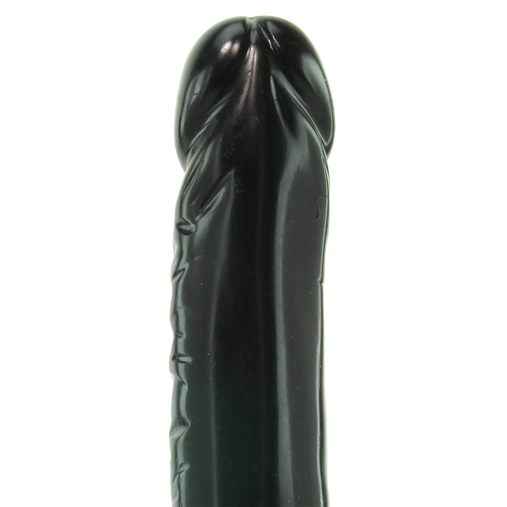 Quivering Cock 8 Inch Vibrating Dildo in Black