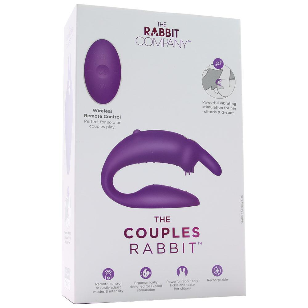 The Couples Rabbit Remote Silicone Vibe in Purple