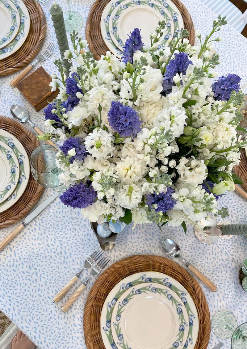 Petite Blue Spot Tablecloth