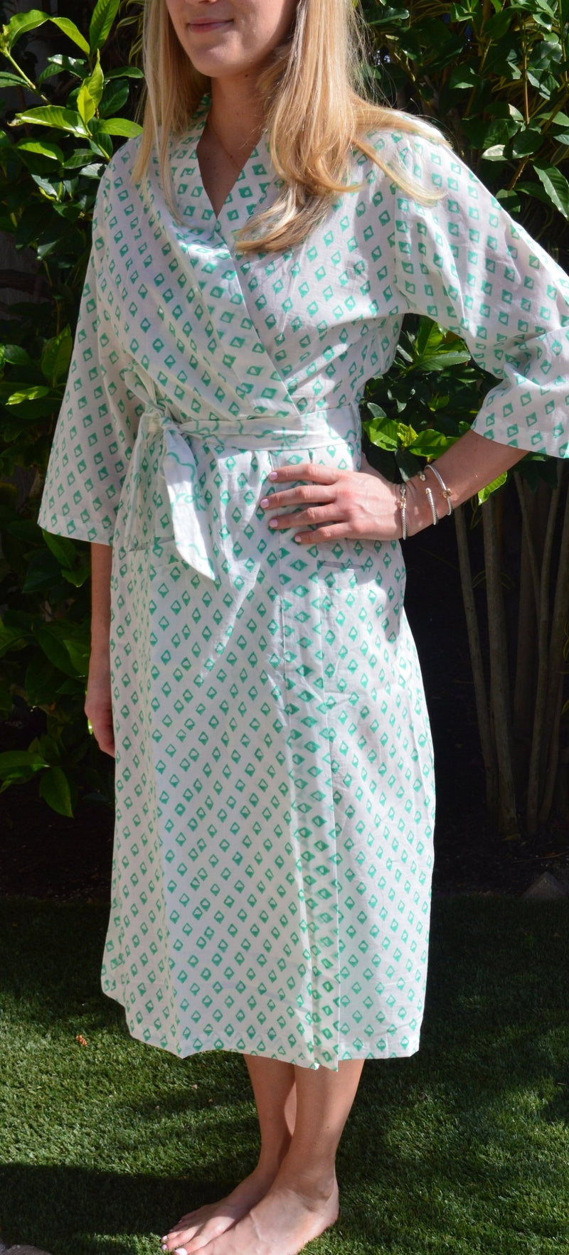 Jade Diamonds Robe