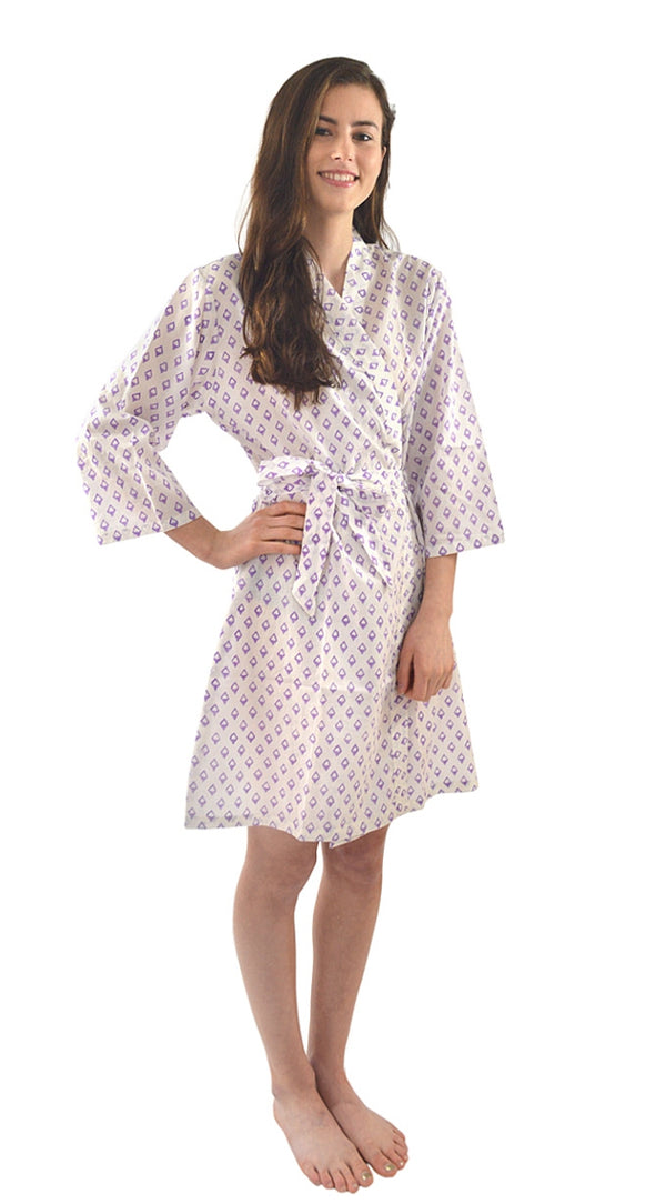 Lavender Diamonds Robe