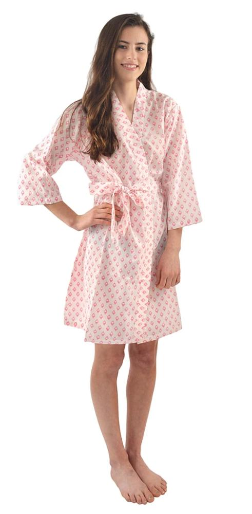 Pink Diamonds Robe