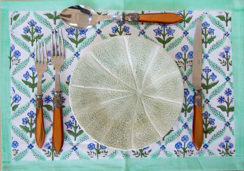 Cornflower Trelliage Placemats - Set of 4