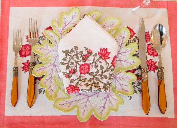 Poppy Placemats - Set of 4 with Dinner Napkins